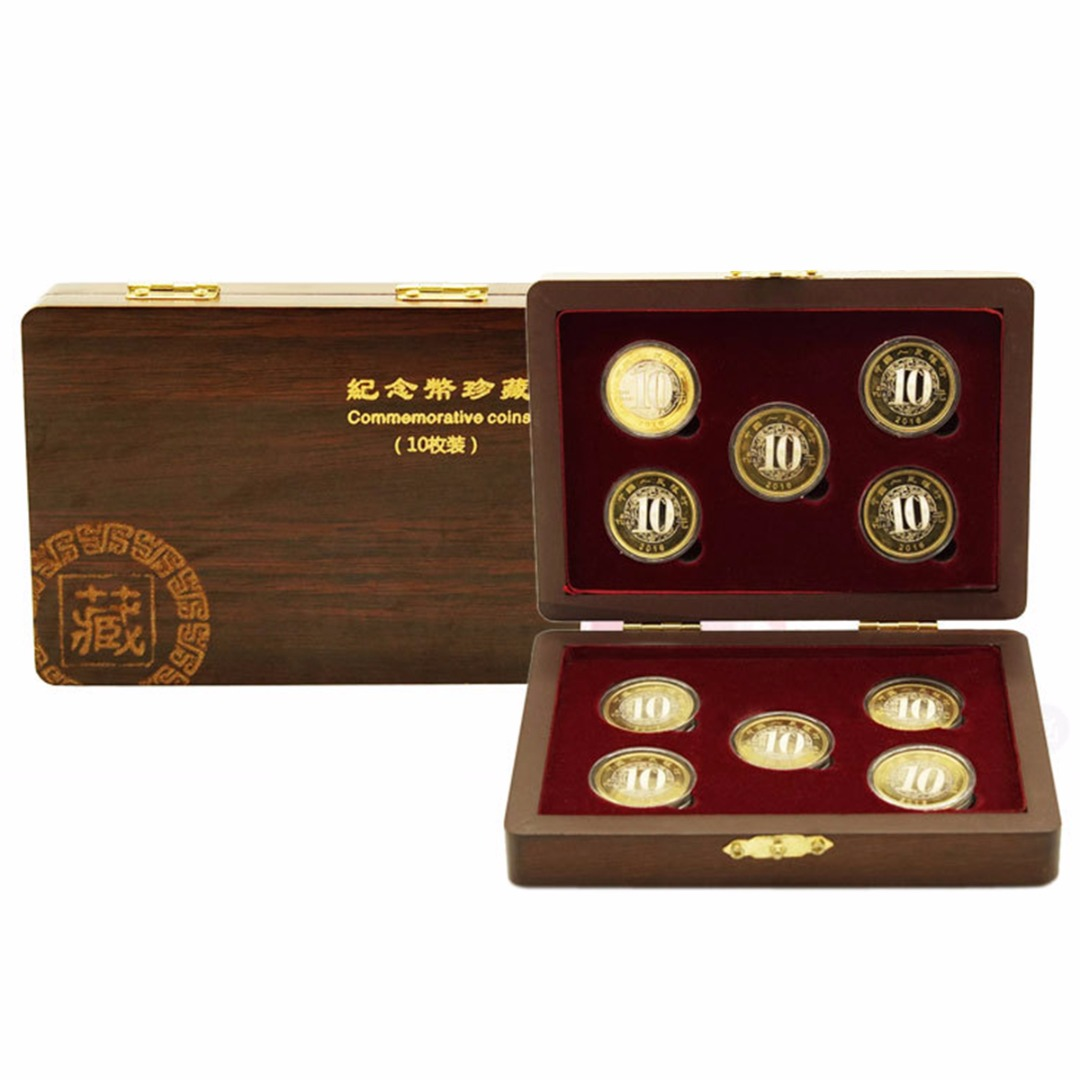 10 Coin Wooden Case Display Box Storage Holder Collection Adjustable Capsule Novel Style Convenient To Use Durable In Use