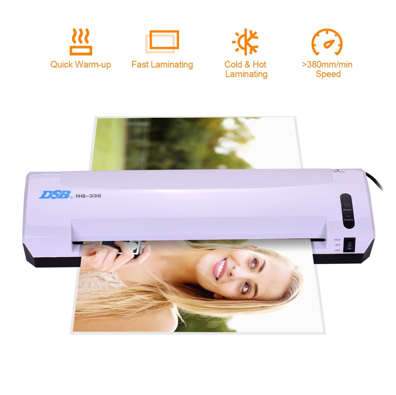 Ламинатор DSB A3 для горячего и холодного ламинирования, ламинатор для фотографий и бумаги, Ширина 13 дюймов, толщина 125 микрофона, резак для бум...