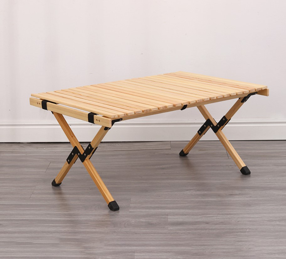 Folding Wood Outdoor Table Portable, Folding Wooden Table For Garden