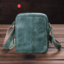 AETOO Handmade old mens bag, mad horse leather shoulder vintage casual head oblique cross bag
