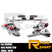 For SUZUKI GSX-R600 GSXR750 2006-2010 Motorcycle CNC Adjustable Rear sets Foot rest Pegs Pedal GSXR 750 600 2007 2008 2009