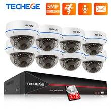 Techege 5MP POE CCTV Kit 8CH Kamera System Vandalproof IP Kamera Audio Record Motion E mail Alarm Video Sicherheit Kamera System