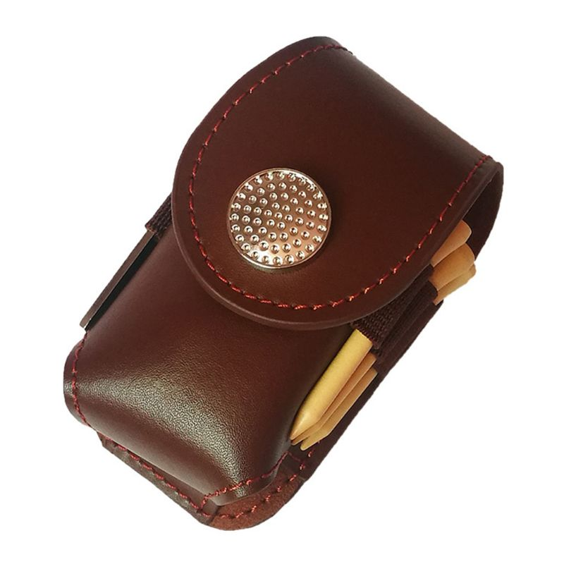Portable Golf Ball Mini Faux Leather Waist Bag Clip Utility Pouch Pocket Golfing Tackle Set with Balls Tees Divot Tool|  - title=