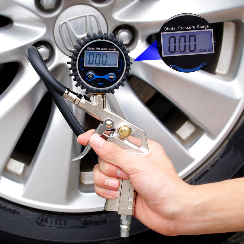 Car High Precision Tire Pressure Gun Tire Pressure Gauge Inflation Gun Suitable For All Kinds Of Small And Medium Vans Cars Moto
