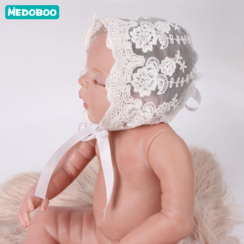 Medoboo Baby Hat For Girls Boys Lace Newborn Photography Props Baby Tire Caps Infant Newborn Clothes in Hats Caps from Mother Kids