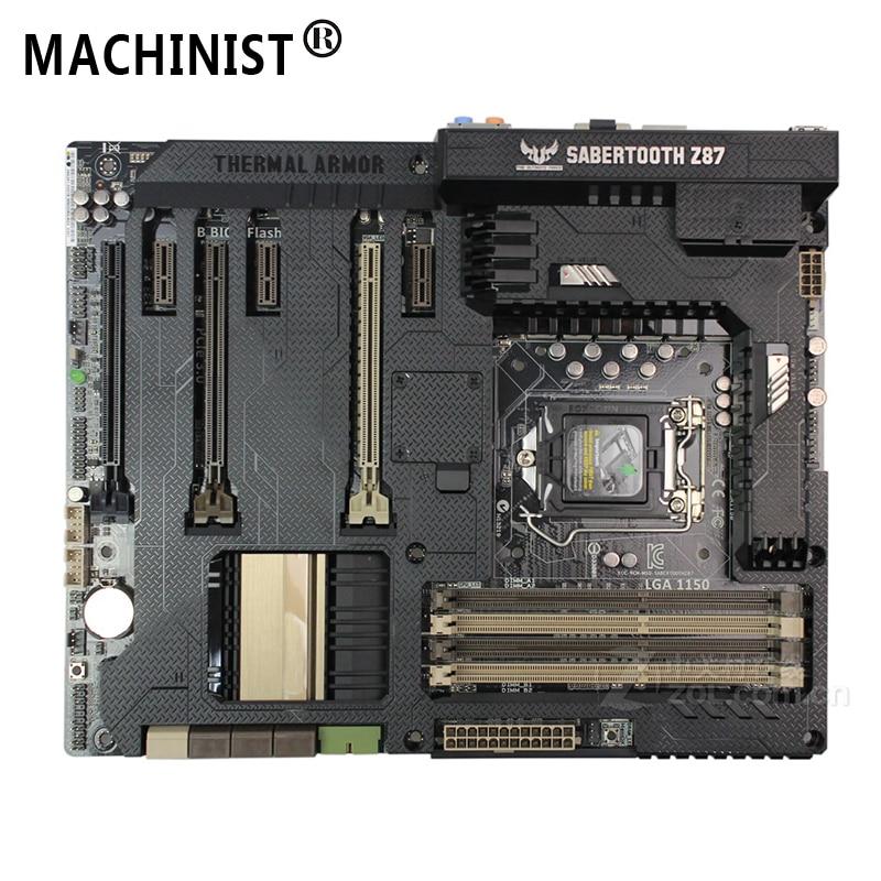 For ASUS SABERTOOTH Z87 Desktop Motherboard Intel Z87 LGA 1150 ATX DDR3 32GB SATA3.0 USB3.0 100% Fully Tested Free Shipping