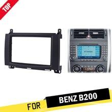 LONGSHI 2Din Car Radio Fascia DVD Panel Face Plate Dash Installation Frame Kit For Mercedes BENZ B200 A-Class W169 B-Class W245