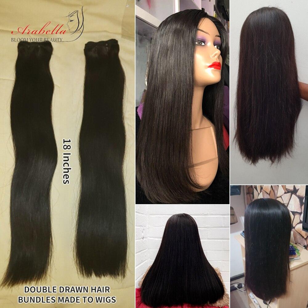 Double Drawn Bone Straight Hair  Bundles Vrigin Hair  Natural Color Thick Ends Hair Bundles Arabella Hair Bundles 6