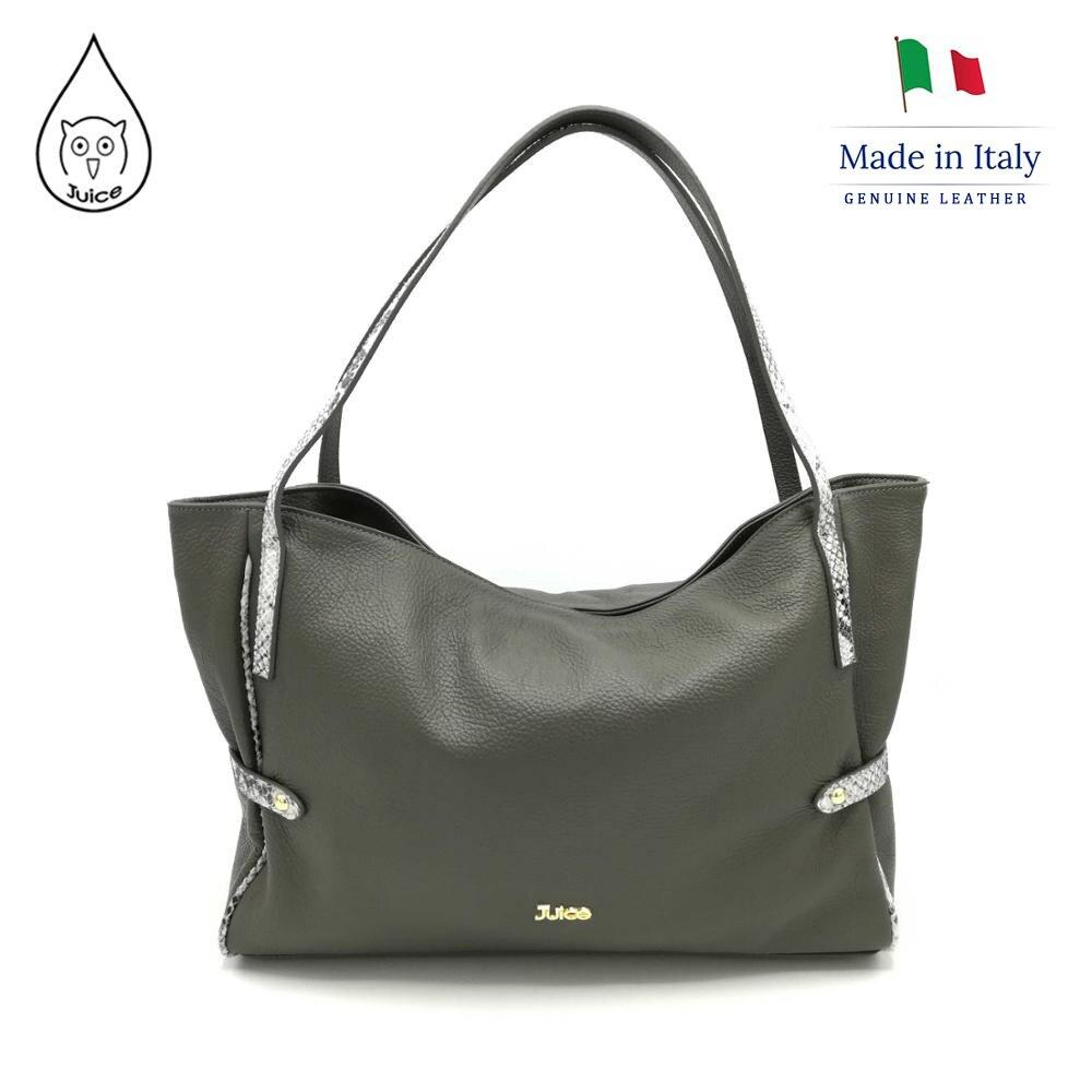 Juice Brand, Genuine Leather Bag Made In Italy, Shoulder Bag 094.412