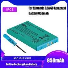 1 sztuk 3.7V 850mAh dla Nintendo GBA SP akumulator akumulator litowo-jonowy + scyzoryk śrubokręt wymienna bateria
