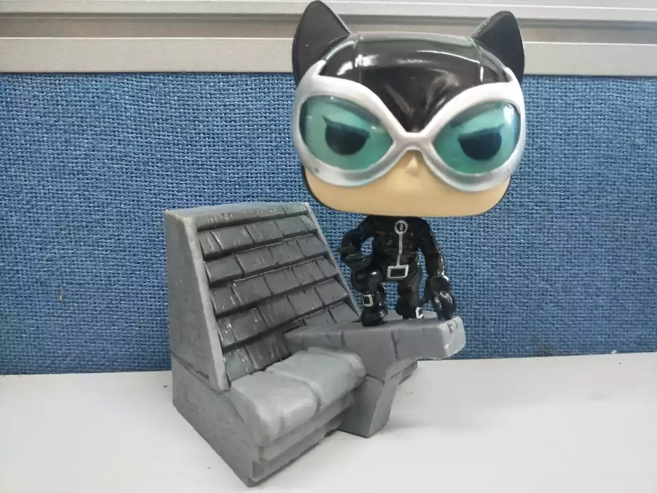 Exclusive Original Funko pop Used DC Super Villains Catwoman Deluxe Hush Jim Lee Vinyl Action Figure Collectible Model Loose Toy image