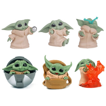 Kawaii Disney gwiezdne wojny dziecko Yoda zabawki figurki akcji 5-6cm gwiezdne wojny Yoda dziecięce zabawkowe figurki z Anime Yoda dzieci świąteczne prezenty tanie i dobre opinie Model 7-12y 12 + y CN (pochodzenie) Unisex star wars PIERWSZA EDYCJA Wyroby gotowe baby yoda NONE Zachodnia animacja Produkty na stanie