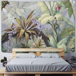 Настенный гобелен с тропическим изображением растений, скандинавский Декор для дома, гостиной, спальни