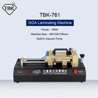 TBK-761 máquina de estratificação de filme oca bomba de vácuo embutida laminador oca universal para o reparo da tela de toque do iphone samsung lcd