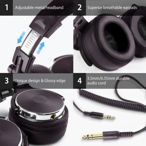 Image 3 - Oneodio fones de ouvido estéreo com fio estúdio profissional dj fone de ouvido com microfone sobre o monitor estúdio fone baixo