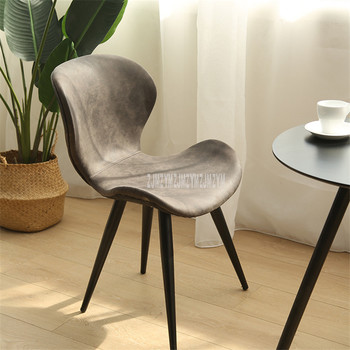 Nordic Chair Leisure Household Living Room Backrest Chair Modern Simple Nordic Cafe Restaurant Breathable Fabric Dining Chair