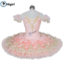 Peach Fairy Ballet Tutu pink girls pancake  Pink Professional Adult Performance Costume nutcracker BT9028