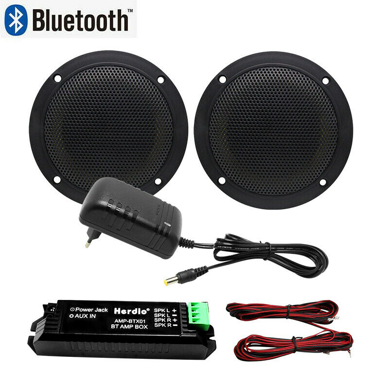 160W 4 Inch Waterproof Marine Bluetooth Speakers Boat Wall Mounted Ceiling Bluetooth Speakers For Bathroom Kitchen Boat