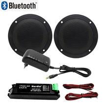 Haut-parleurs Bluetooth 160W, étanche, 4 pouces, pour la Marine, montage mural, au plafond, pour salle de bain, cuisine, bateau