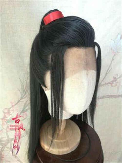 Nowy arcymistrz demonicznej uprawy nieokiełznany Wuxian Wangji Cosplay peruka do włosów Chen qinglin