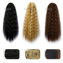 Drawstring Ponytail Hair-Extensions Afro-Puff Curly Wavy Kinky Clip-In Long Natural Women