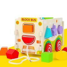 Ant Building Blocks omoshiroi block Children Baby  Model Figures Educational wood assembled blocks toys for children