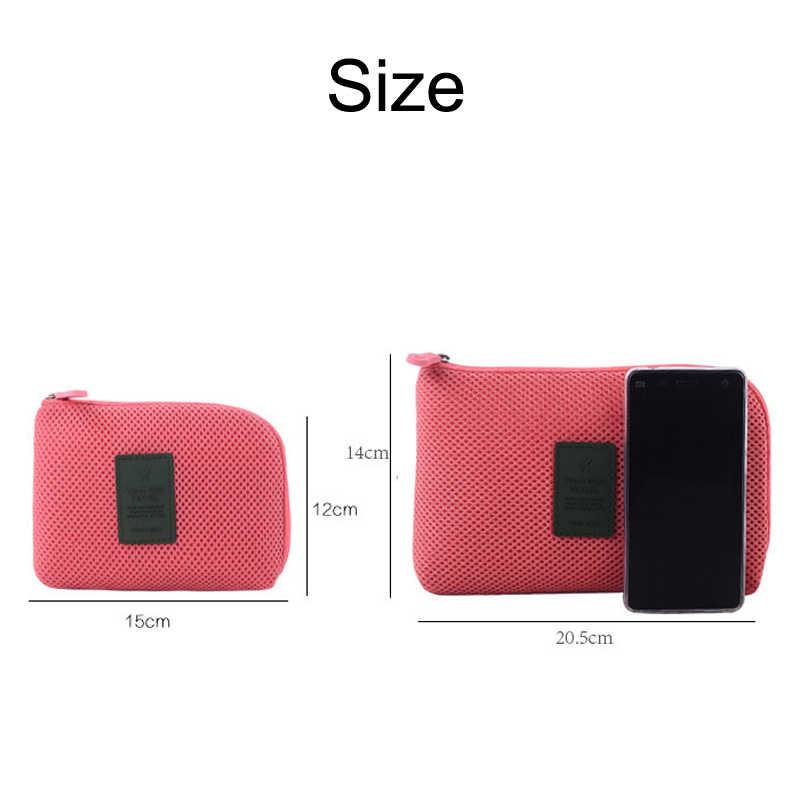 Mới Chống Sốc Du Lịch Kỹ Thuật Số USB Sạc Cáp Tai Nghe Ốp Lưng Trang Điểm Mỹ Phẩm Nhà Tổ Chức Túi Phụ Kiện