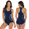 Zippered Front Sports One Piece Swimsuit 12