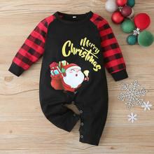 Детский зимний комбинезон для мальчиков и девочек с рождественским