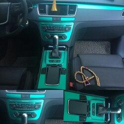 Dla Peugeot 508 2011 2017 wnętrze centralny panel sterowania klamka 3D/5D naklejki z włókna węglowego naklejki Car styling Accessorie w Naklejki samochodowe od Samochody i motocykle na