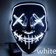 Halloween mask led masque halloween masquerade Masks Party horror light up glow in the dark decoration props