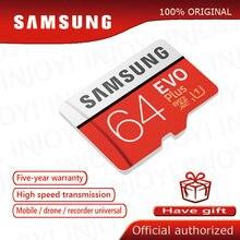 الأصلي سامسونج EVO زائد بطاقة الذاكرة 64 جيجابايت U3 EVO + 128 جيجابايت 256 جيجابايت Class10 مايكرو SD بطاقة 32 جيجابايت 16 جيجابايت مايكرو SD UHS-I U1 TF بطاقة