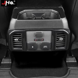 Image 3 - JHO ABS Carbon Korn Hintere Center Konsole Panel Vent Outlet Abdeckung Trim Für Ford F150 RAPTOR 2015 2020 2018 2019 2017 zubehör