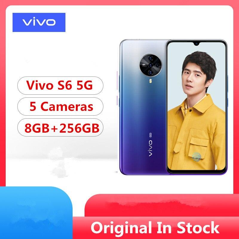 Vivo S6 мобильный телефон, оригинальный, Exynos 980, Android 10,0, Amoled экран 6,44 дюйма, 8 ГБ ОЗУ 256 Гб ПЗУ, 48 МП, сканер отпечатка пальца и лица