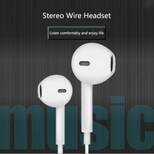 Universal 3.5mm Earphone Wired Control With Mic Headsets For Apple iPhone Samsun