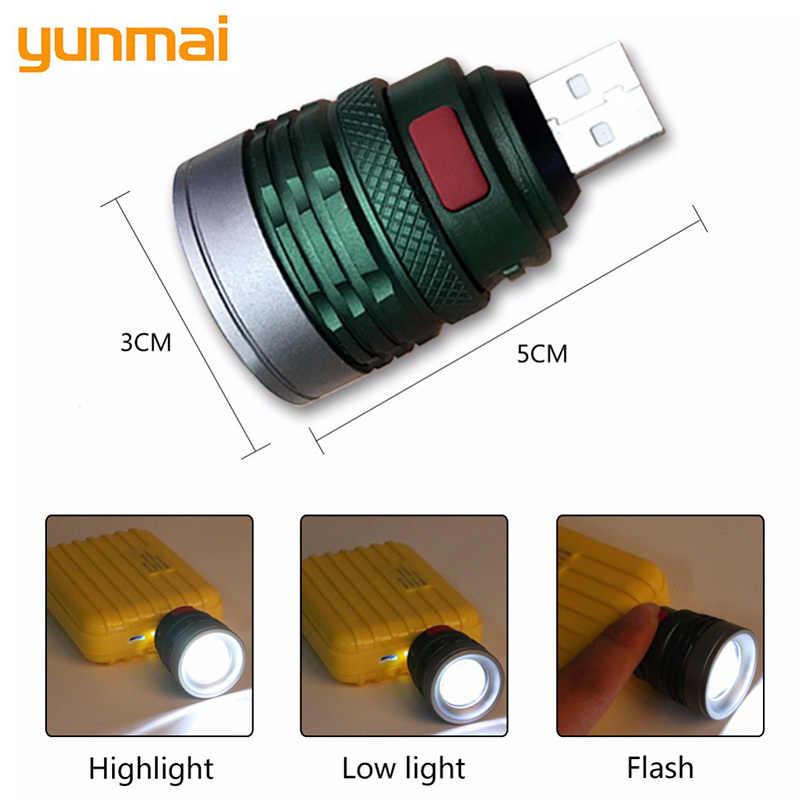 NEUE USB Handliche Leistungsfähige LED Taschenlampe Tragbare Mini Zoomable 3 Modi Taschenlampe Lampe Lanterna Lighitng Für Jagd Camping