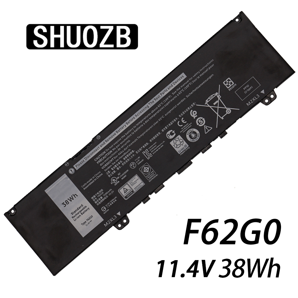 New F62G0 11.4V 38WH Laptop Battery For Dell Inspiron 13 5370 7370 7373 Vostro 5370 RPJC3 F62GO CHA01 RPJC3 Notebook Batteries