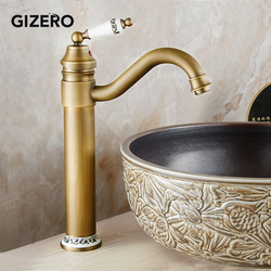 Antique Faucet Bathroom Basin Mixer 360 Rotation Spout Deck Mounted Antique Wash Basin Mixer Hot And Cold Water Taps ZR121