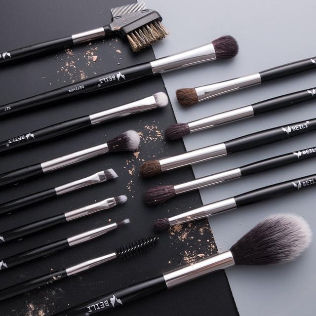 BEILI 1 piece Black Professional Synthetic Makeup brushes Highlighter Blending Blush Eyebrow Eyeliner make up brushes 6