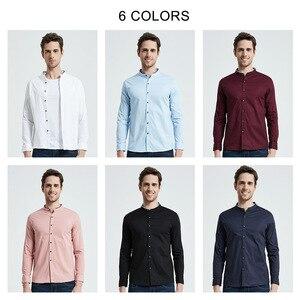 Image 5 - Coodrony camisa masculina de manga curta, estilo chinês, mandarin, com gola, de algodão, legal, para o verão, casual, s96017