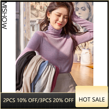 MISHOW 2020 Winter Sweaters For Women Casual Slim Pullover Long Sleeve Turtle Neck Female Knitted Tops Warm Clothing MX20D5580 1