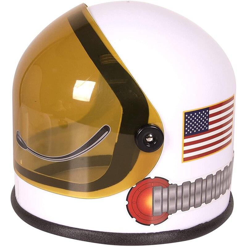 Шлем игрушечный пластиковый с козырьком, шлем астронавт, аксессуар для ролевых игр, Звездный космический корабль на день рождения