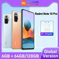 Versione globale Xiaomi Redmi Note 10 Pro 6GB 64GB/6GB 128GB Smartphone 108MP fotocamera Snapdragon 732G Display AMOLED