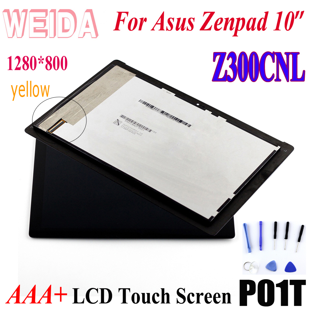 WEIDA For Asus Zenpad 10 Z300 Z300CNL 1280*800  LCD Display Touch Screen Assembly + Frame P01T