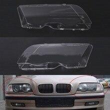 Capa para farol automotivo para bmw e46 98 01, acessório para automóvel, esquerda e direita, farol de cabeça com lente
