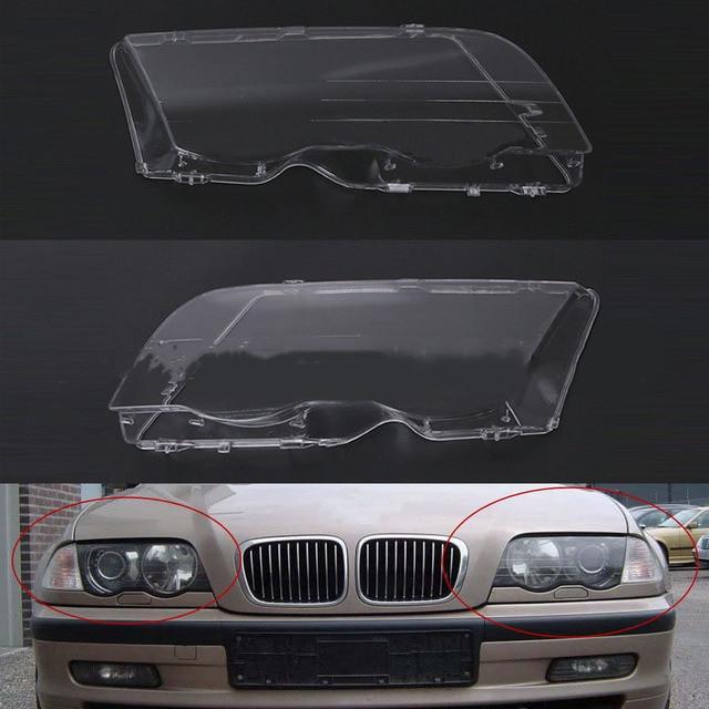 Car Headlight Cover For BMW E46 98 01 Automobile Left Right Headlamp Head Light Lens Covers Auto Accessories