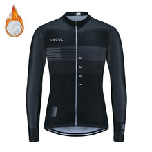 LECOL 2021 Pro Team Winter Thermal Fleece Cycling Jersey Clothing Bicycle Mtb Bike Downhill Shirt Men Long Sleeve Uniform