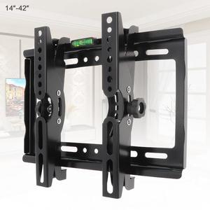 Image 1 - 25KG 14 42 Zoll Einstellbare Stahl TV Wand Halterung Flache Panel TV Rahmen Unterstützung 15 Grad Tilt winkel für TV LCD LED Monitor
