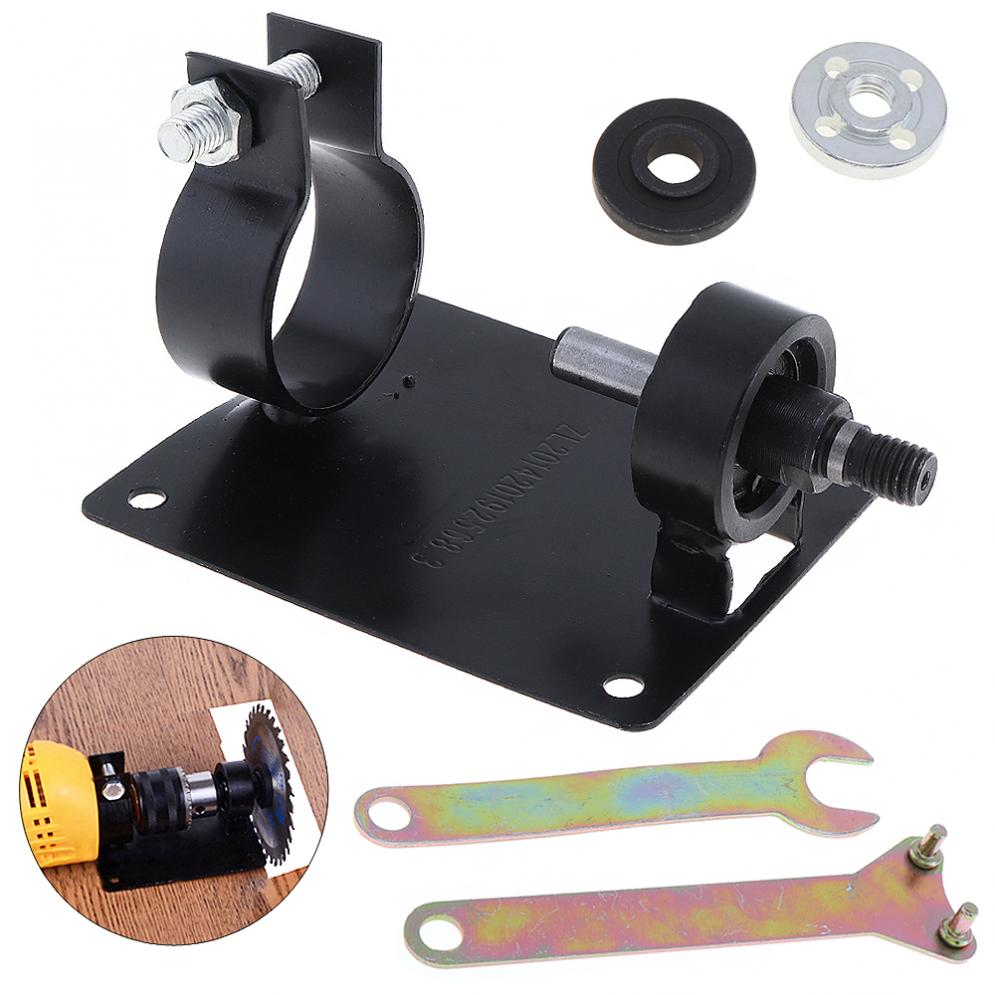 5pcs/set Metal 10mm 13mm Electric Drill Cutting Seat Stand Holder Set With Wrenchs Gasket For Cutting Polishing Grinding