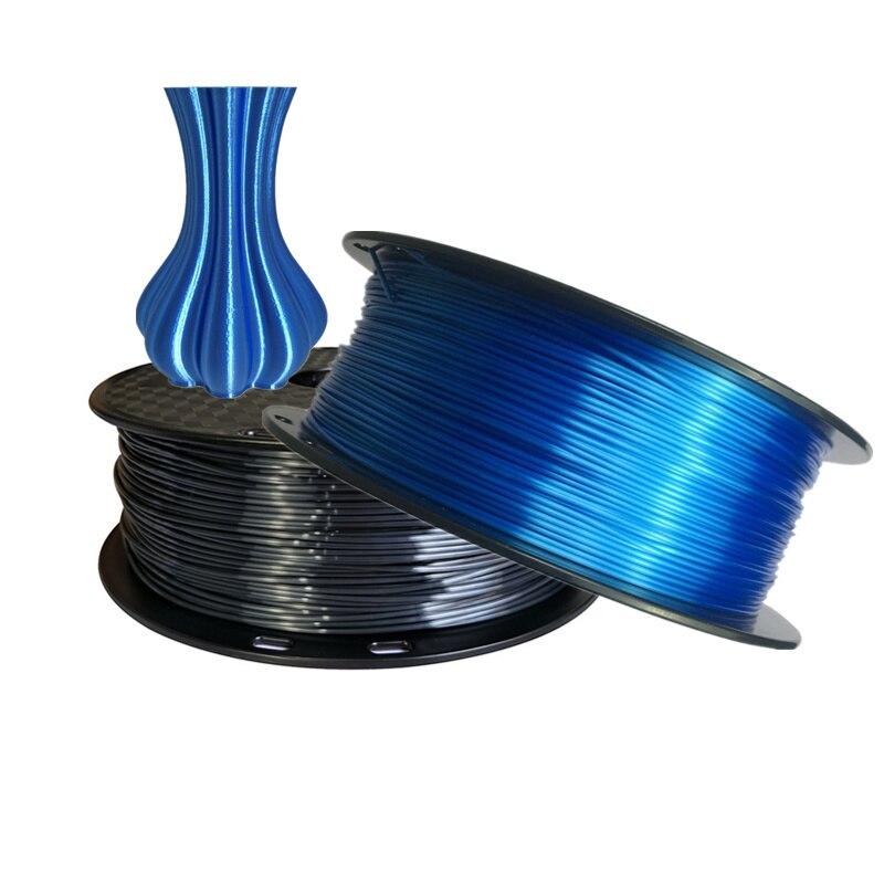 Шелк PLA черный 1,75 мм PLA роскошный шелковистый блеск 500 г/1 кг/250 г нить для 3d принтера Блестящий шелк ощущение как 3d-ручка материал для печати